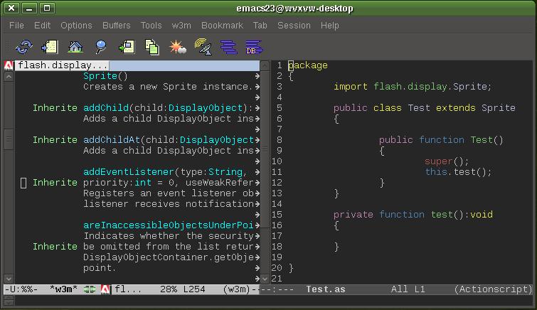 Название: emacs-as3-mode.png Просмотров: 3266  Размер: 24.5 Кб